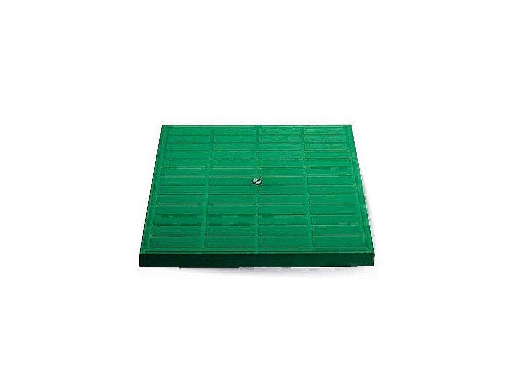 Poklop pochůzný zelený 400x400