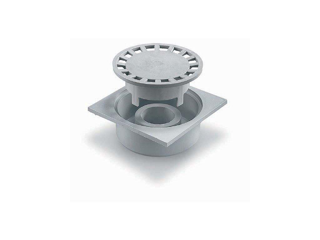 Podlahová vpusť 150X150 - šedá