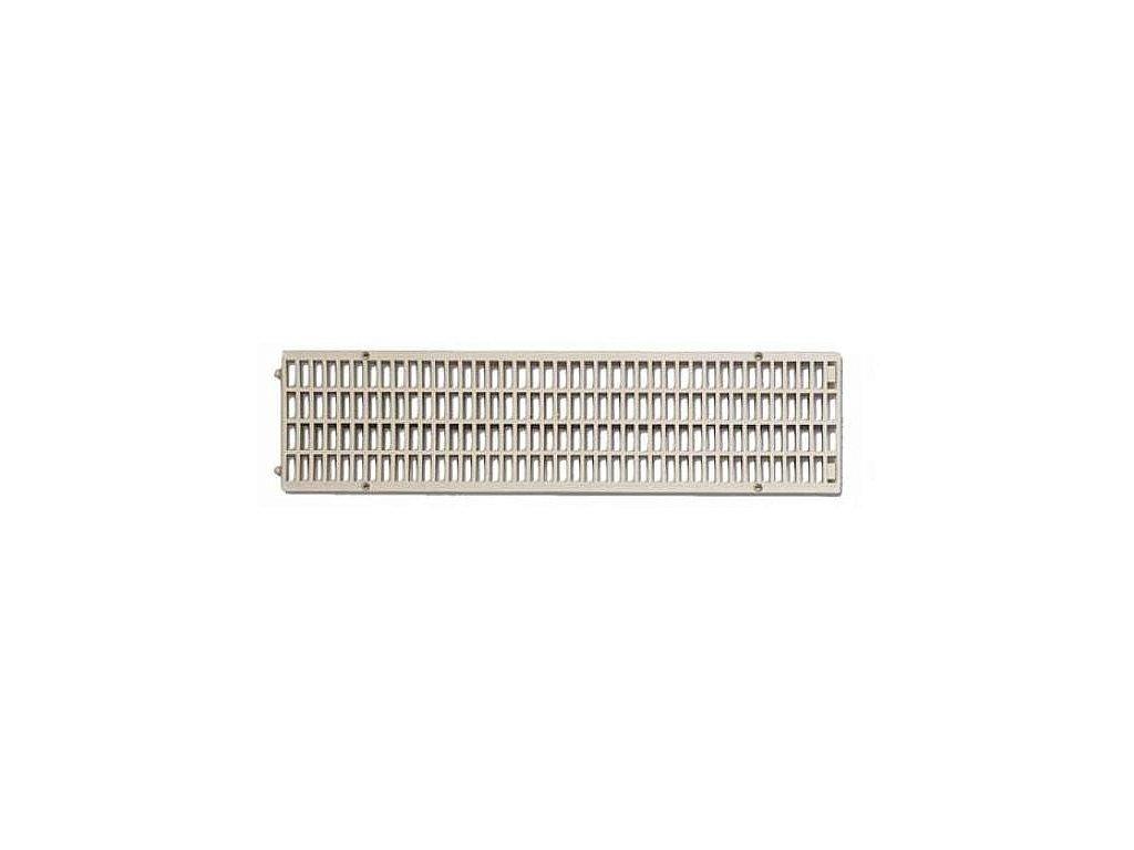 Mříž pro žlab PP 130x500 -  šedá
