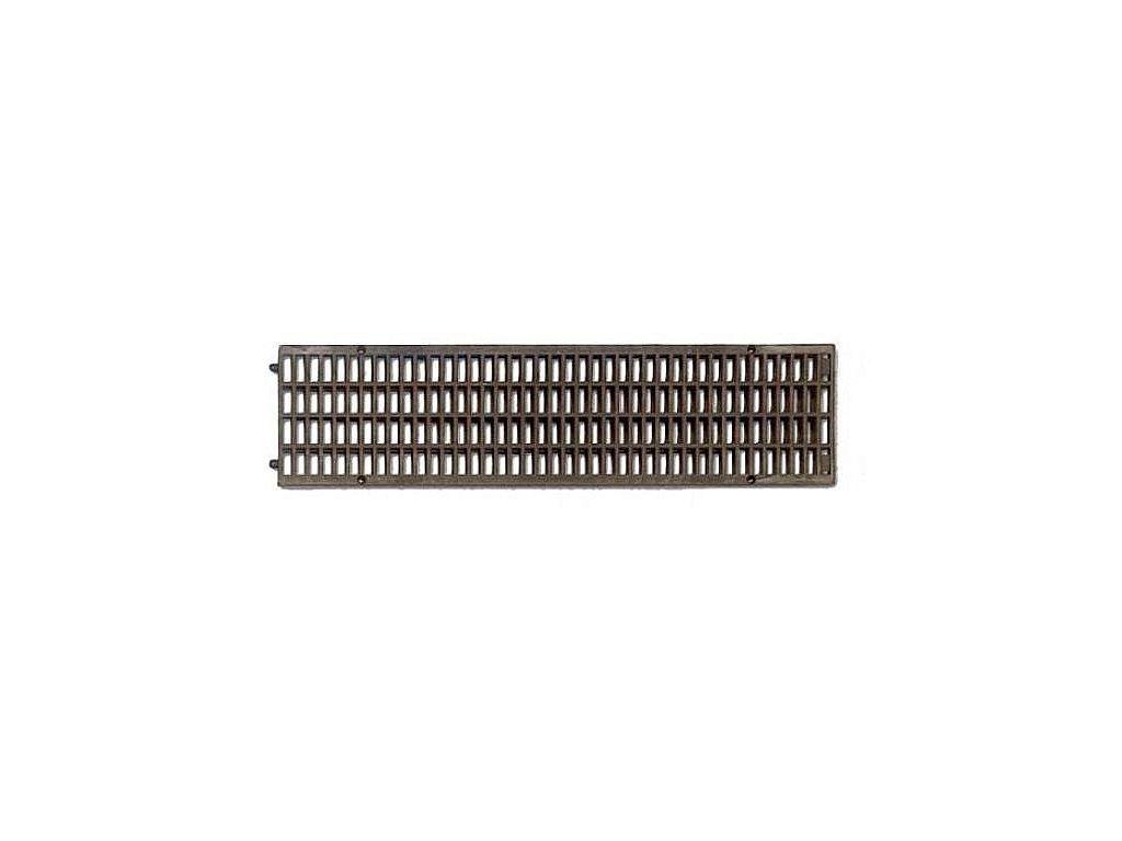 Mříž pro žlab PP 130x500 - černá