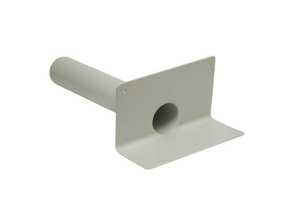Boční střešní vpusť PVC kruh H500 D75