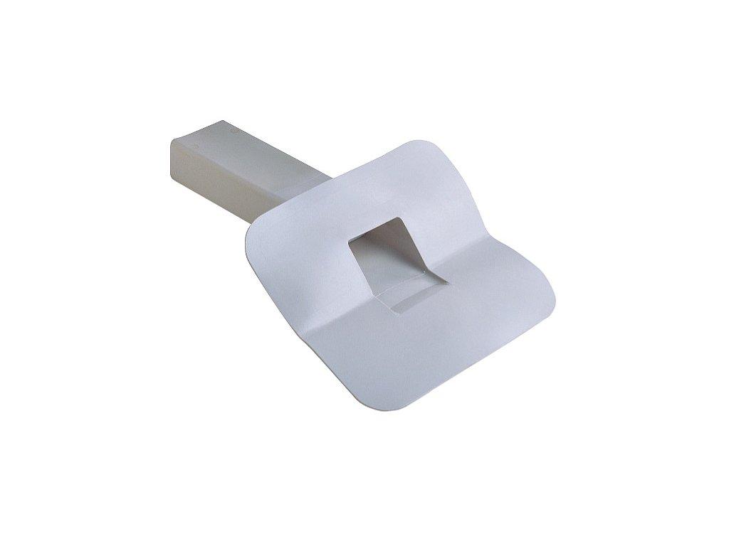 Boční střešní vpusť PVC 100x65 45°