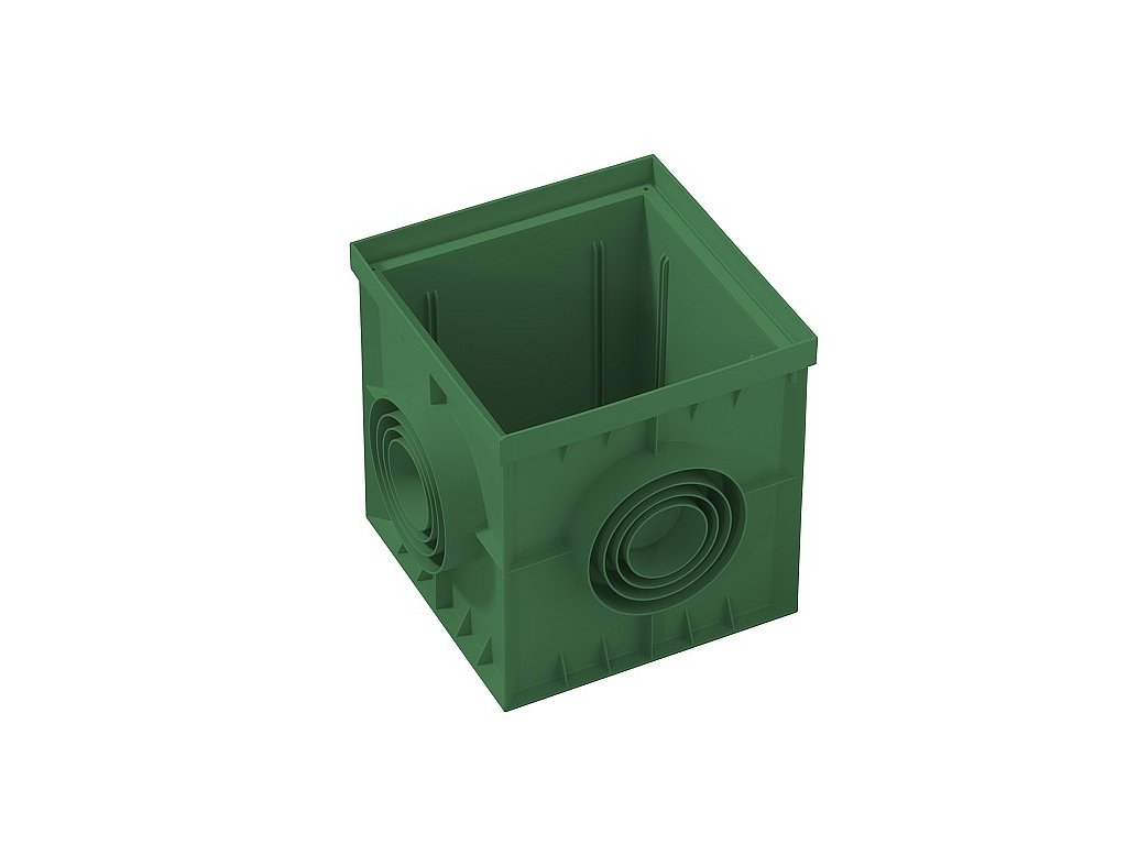 Kanálová šachta 200x200 zelená