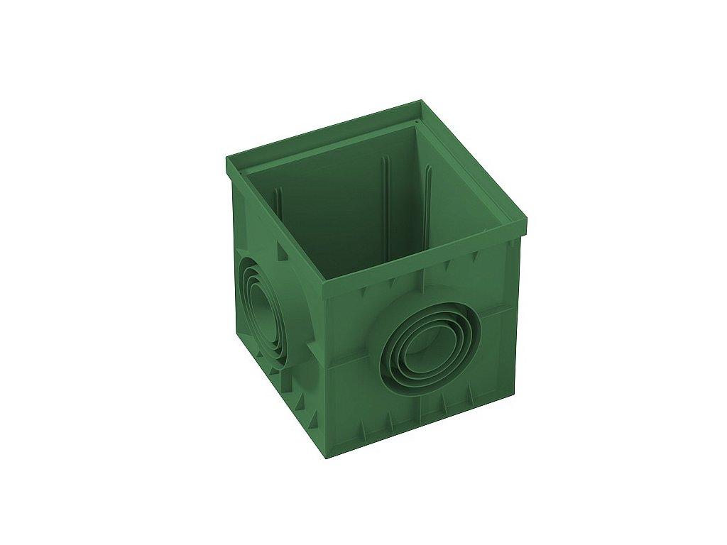 Kanálová šachta 400x400 zelená