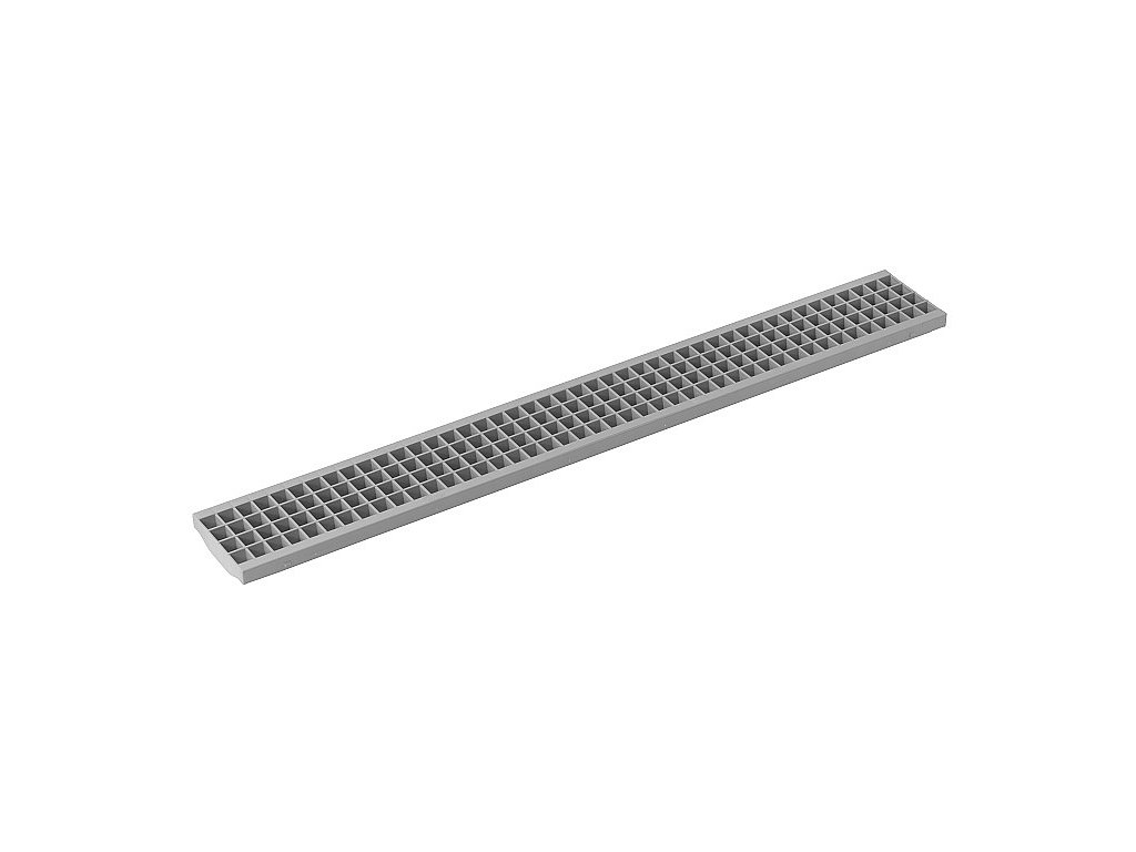 Mříž plastová 130x1000 - šedá