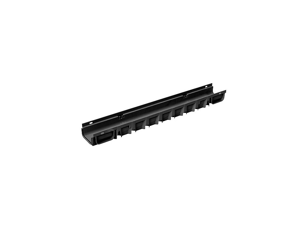 Žlab DDRAIN 130x75x1000 - černý