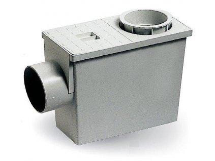 Okapová vpusť s bočním odtokem 80/100 + redukce; šedá
