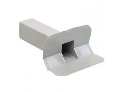 Boční střešní vpusť PVC 100x100 45°