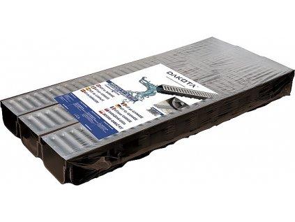 Kit DDRAIN (3x žlab + 3x pozink mříž 130x75x1000 + set koncovek)