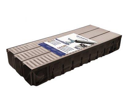 Kit DDRAIN (3x žlab + 3x pozink mříž 130x120x1000 + set koncovek)