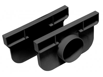 Set koncovek (L, R) pro žlab 130x75x1000 černá