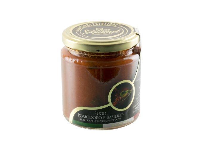 Italská rajčatová omáčka s bazalkou