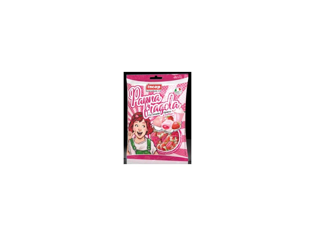 Bonbony PANNA FRAGOLA (jahodový krém) INCAP 125g