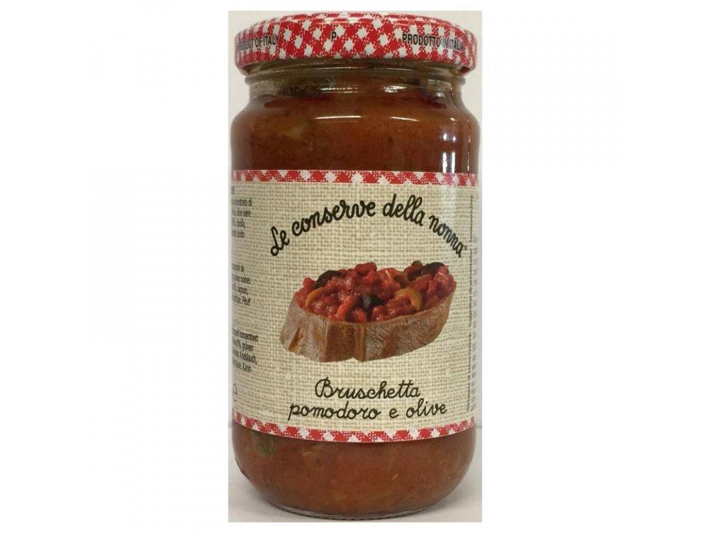 le conserve della nonna bruschetta pomodoro e olive sauce