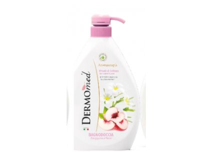 DERMOMED   Sprchový gel květ Tiare a broskev s pumpičkou 1000ml