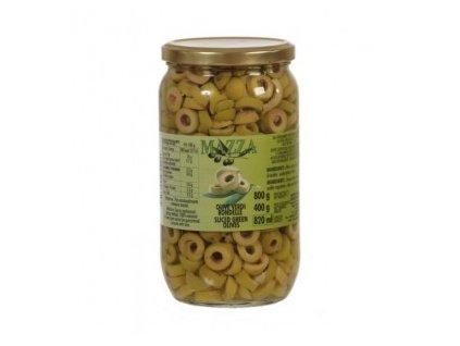 Zelené olivy krájené v nálevu 800g