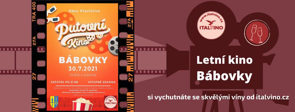 Letní kino Bábovky s italskými víny od italvino.cz