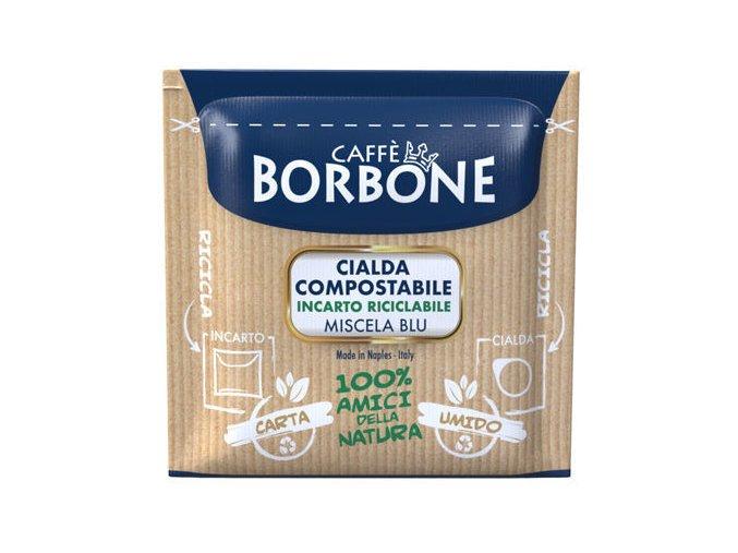 0001838 150 cialde ese 44 mm caffe borbone miscela blu compostabile incarto riciclabile