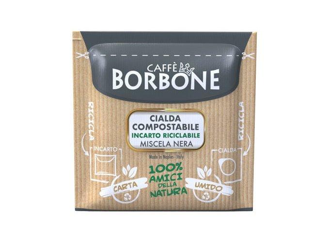 0001837 150 cialde ese 44 mm caffe borbone miscela nera compostabile incarto riciclabile
