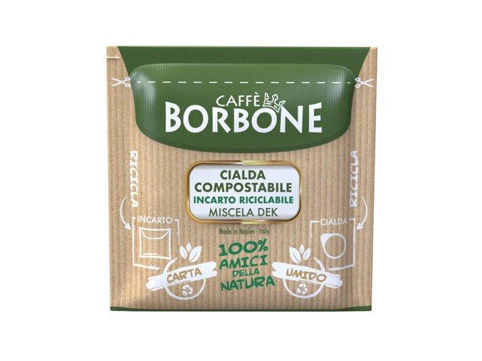 0001893 150 cialde ese 44 mm caffe borbone miscela verde dek incarto riciclabile