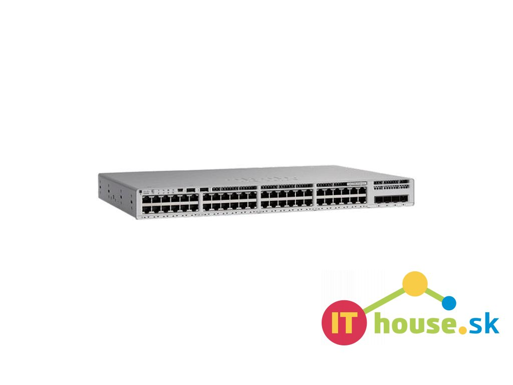 C9200L-48P-4X-A Catalyst 9200L 48-port PoE+, 4 x 10G, Network Advantage, C9200L-48P-4X-A
