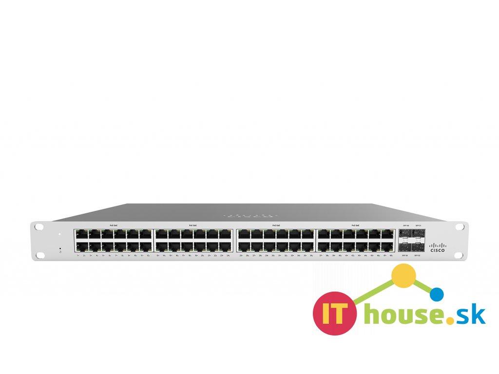 MS120-48FP-HW Cisco Meraki MS120-48FP 1G L2 Cld Managed 48x GigE 740W PoE Switch