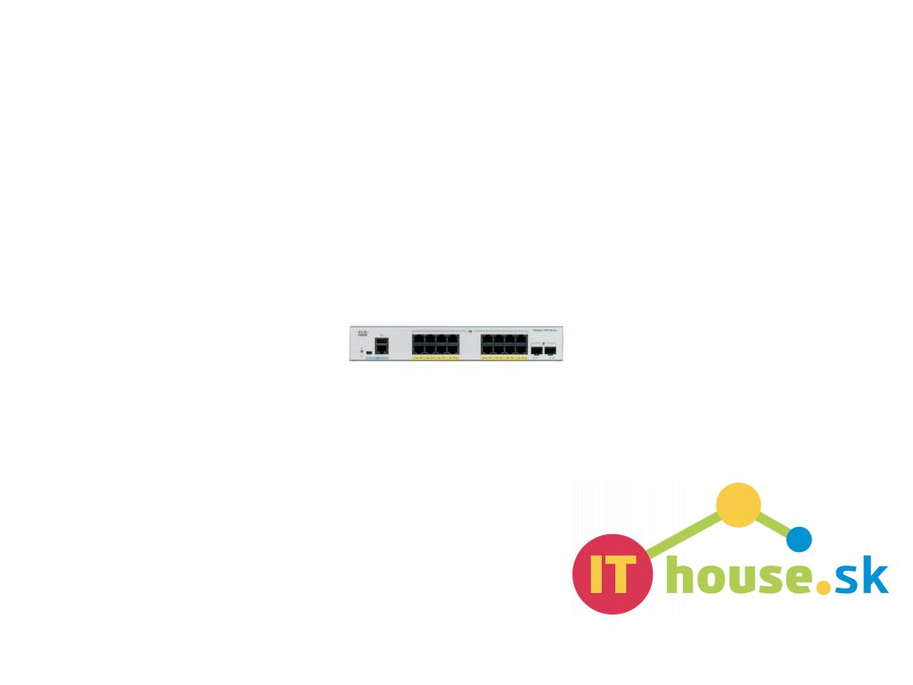 C1000-16P-2G-L Catalyst C1000-16P-2G-L, 16x 10/100/1000 Ethernet PoE+ ports and 120W PoE budget, 2x 1G SFP uplinks