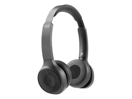 Cisco Headset 730 (carbon black headset with travel case, USB adapter, USB and 3.5-mm connectors)