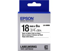 Epson Label Cartridge Standard LK-5WBN Black/White 18mm (9m)