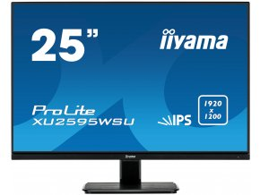 "25"" iiyama XU2595WSU-B1: IPS, WUXGA (16:10)@75Hz, 300cd/m2, 4ms, VGA, HDMI, DP, USB, FreeSync, černý"