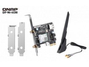 QNAP QXP-W6-AX200 - PCIe bezdrátová síťová karta Wi-Fi 6 pro NAS nebo PC