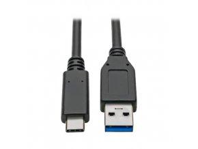 PremiumCord kabel USB-C - USB 3.0 A (USB 3.1 generation 2, 3A, 10Gbit/s) 0,5m