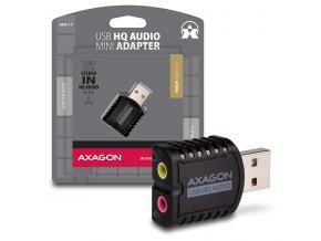 AXAGON ADA-17, USB2.0 - stereo HQ audio MINI adaptér, 24-bit/96kHz
