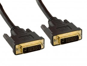 4World Kabel DVI-D-DVI-D 24+1M-24+1M 10m Black