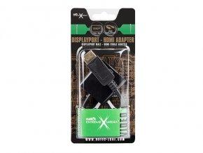 Natec DISPLAYPORT(M)->HDMI(F) adaptér/redukce 10 cm, černý, blistr