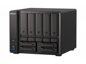 """QNAP TS-h973AX-8G (Ryzen 2,2GHz, ZFS, 8GB RAM, 5x 3,5"""" + 4x 2,5"""" SATA/2x U.2, 2x 2,5GbE, 1x 10GbE)"""