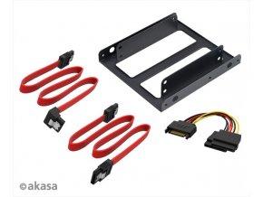 """AKASA 2.5"""" SSD/HDD adaptér s kabely"""