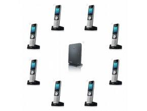 """Yealink W60P, IP DECT báze+ručka, PoE, 2,4"""" bar.disp., až 8 ruček"""