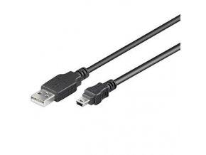 PremiumCord Kabel USB 2.0, A-B mini, 5pinů, 20cm