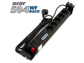 "19"" napáj.pan.Acar 504WF 5x220V-3m black+přep.ochr"