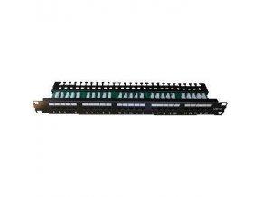 "DATACOM Patch panel ISDN 25p.1U Integrovaný  BLACK, 19"""