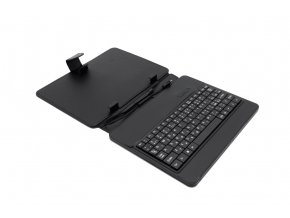 "AIREN AiTab Leather Case 2 with USB Keyboard 8"" BLACK (CZ/SK/DE/UK/US.. layout)"