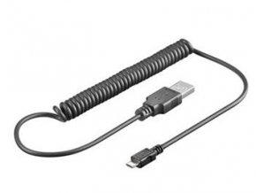 PremiumCord Kabel micro USB 2.0, A-B 1m - kroucený 50cm až 100cm