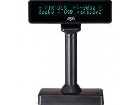 VFD zák.displej FV-2030B 2x20, 9mm,USB, černý