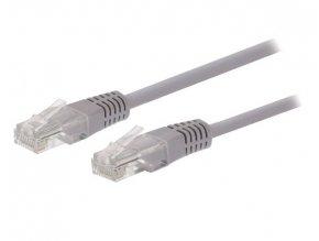 Kabel C-TECH patchcord Cat5e, UTP, šedý, 15m