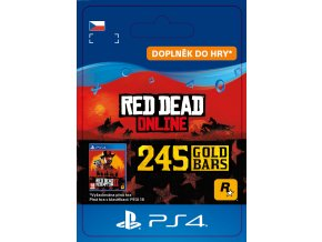 ESD CZ PS4 - Red Dead Online: 245 Gold Bars