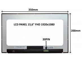"""LCD PANEL 15,6"""" FHD 1920x1080 30PIN MATNÝ / BEZ ÚCHYTŮ"""