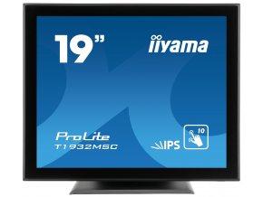 "19"" iiyama T1932MSC-B5AG: IPS, SXGA, capacitive, 10P, 250cd/m2, VGA, HDMI, DP, černý"