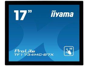 """17"""" iiyama TF1734MC-B7X: TN, 1280x1024, capacitive, 10P, 350cd/m2, VGA, DP, HDMI, IP65, černý"""