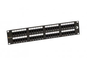 "19"" Patch panel Solarix 48 x RJ45 CAT6 UTP černý"
